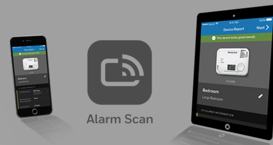 Honeywell X sērijas tvana un dūmu detektoru Alarm scan app