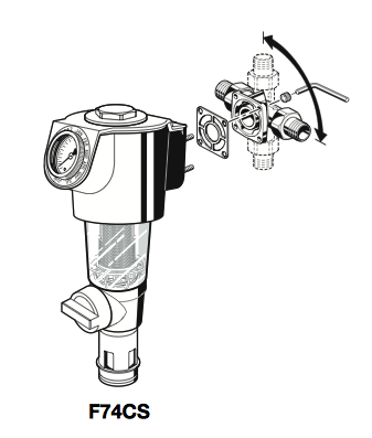 "Mehāniskais ūdens filtrs F74CS, 3/4"" caurulei"