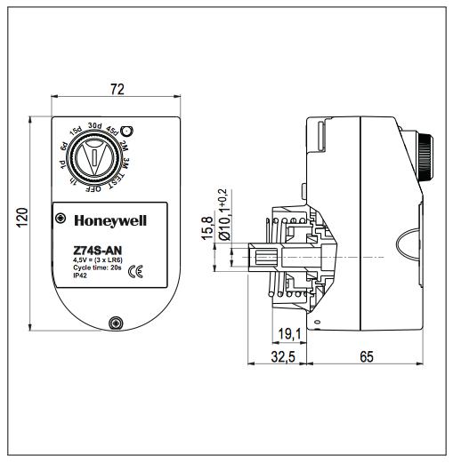 Z74S-AN automātiskās skalošanas elements F74CS filtriem