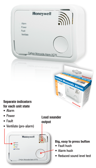 XC70 Honeywell tvana gāzes detektors - kvalitatīvs CO detektors