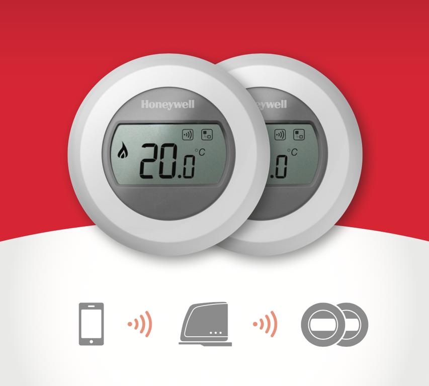 Divi bezvadu termostati un web modulis