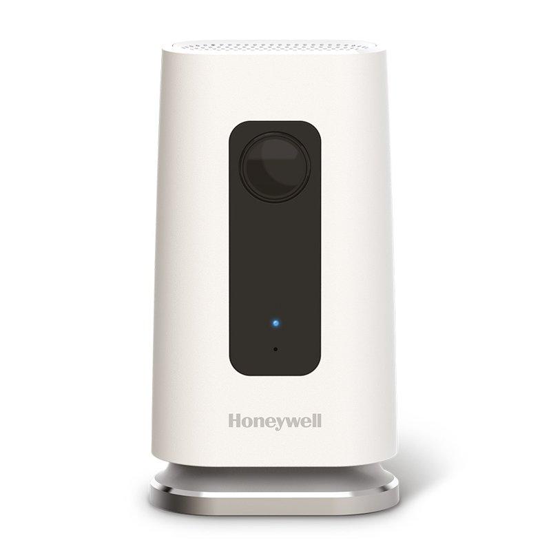 Honeywell Lyric C1 video kamera dzird detektoru trauksmi un sūta ziņu uz telefonu
