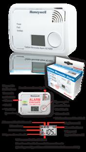 XC100D Honeywell tvana gāzes detektors ar ekrānu - CO detektors, trauksmes signalizācija